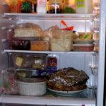 leftover food in fridge