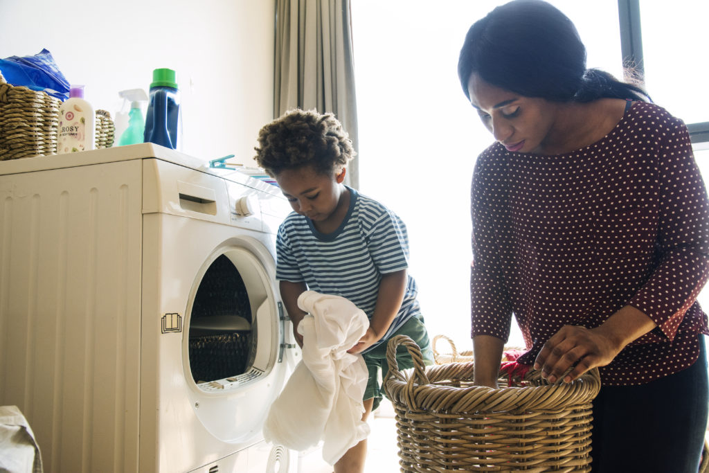 loading washing machine